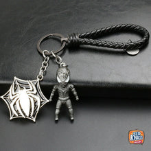 Load image into Gallery viewer, Rotatable Avengers Spider Man Keyring Charms Marvel Infinity War Keychain