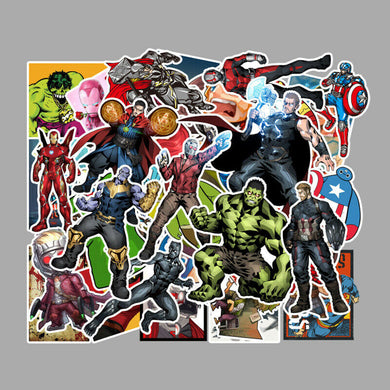 Avengers PVC Stickers 50-pack Marvel Iron Man Hulk End Game Infinity War