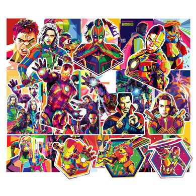 Avengers PVC Stickers 51-pack Marvel Iron Man Hulk End Game Infinity War