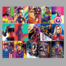 Load image into Gallery viewer, Avengers PVC Stickers 51-pack Marvel Iron Man Hulk End Game Infinity War