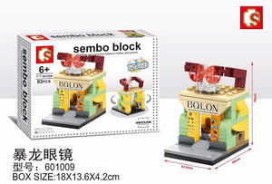 SEMBO Block 601009 | SUNGLASSES SHOP | Mini Street Collections | Creative Building Blocks