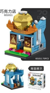 SEMBO Block 601011 | CHOCOLATE SHOP | Mini Street Collections | Creative Building Blocks