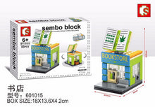 Load image into Gallery viewer, SEMBO Block 601015 | BOOKSTORE | Mini Street Collections | Creative Building Blocks