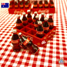 Load image into Gallery viewer, Mini Coke Bottles with Crate 1:12 Miniature
