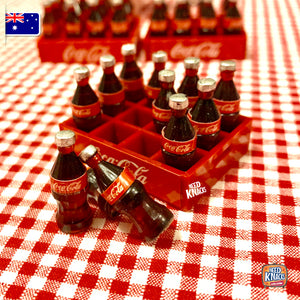 Mini Coke Bottles with Crate 1:12 Miniature