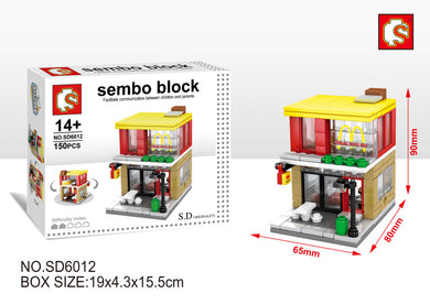 SEMBO Block SD6012 | FAST-FOOD Store | Creative Building Blocks