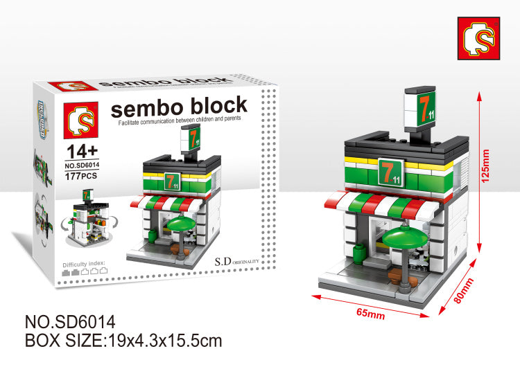 SEMBO Block SD6014 | CONVENIENT STORE | Creative Building Blocks
