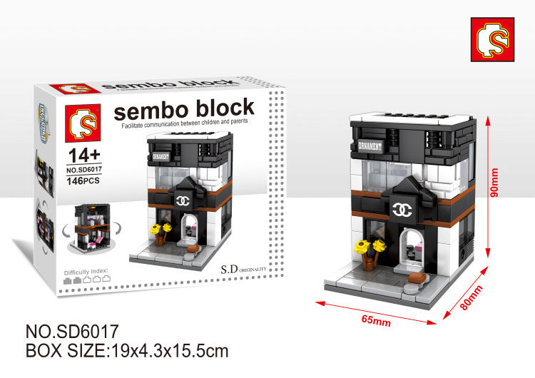 SEMBO Block SD6017 | FASHION STORE | Creative Building Blocks