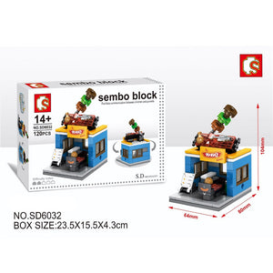 SEMBO Block SD6032 | BBQ RESTAURANT | Creative Building Blocks
