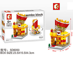 SEMBO Block SD6050 | POPCORN SHOP | Creative Building Blocks