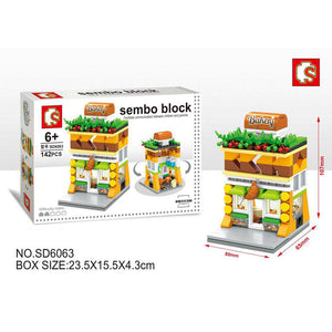 SEMBO Block SD6063 | BAKERY | Creative Building Blocks