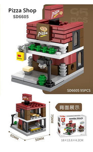 SEMBO Block SD6605 | PIZZA SHOP | Creative Building Blocks