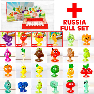 Stikeez Russia Complete set PLUS Coles Collector's Box