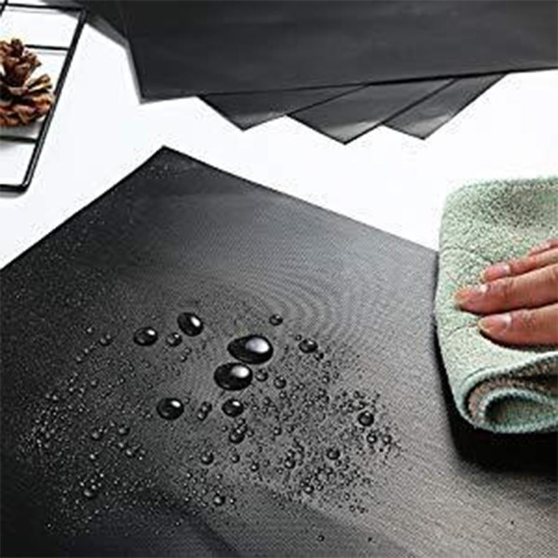 Grill Mat Set of 6-100% Non-Stick BBQ Grill Mats, Heavy Duty, Reusable, and Easy to Clean - Works on Electric Grill Gas Charcoal BBQ - Extended Warranty - 15.75 x 13-Inch, Black