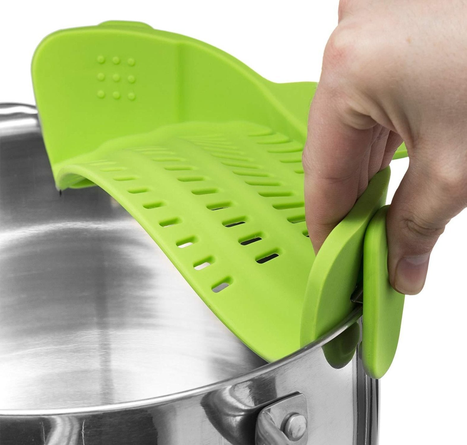 Kitchen  Strain Strainer, Clip On Silicone Colander, Fits all Pots and Bowls