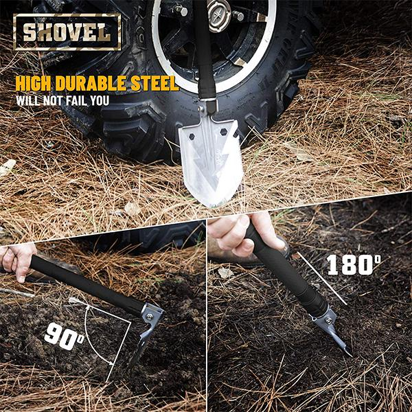 2019 NEW Military Portable Folding Survival Shovel with Waist Pack