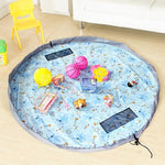 Toy Storage Bag, Large Tidy Bag Kids Rug Portable Kids Toys Organizer Storage Drawstring Bag Play Mat 150cm