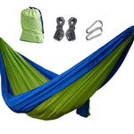 2019 NEW Outdoor Camping Hammock - Portable Anti-fade Nylon Single & Double Hammock, Best Parachute Double Hammock For Backpacking, Camping, Travel, Beach, Yard.
