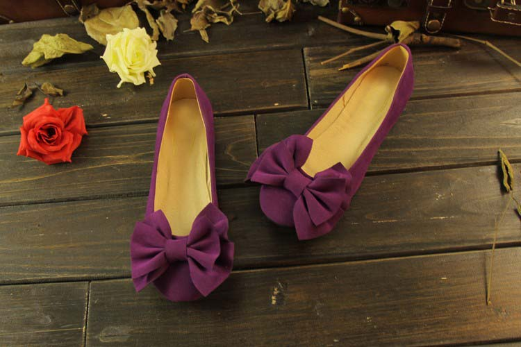 Purple Flats with Bow on top