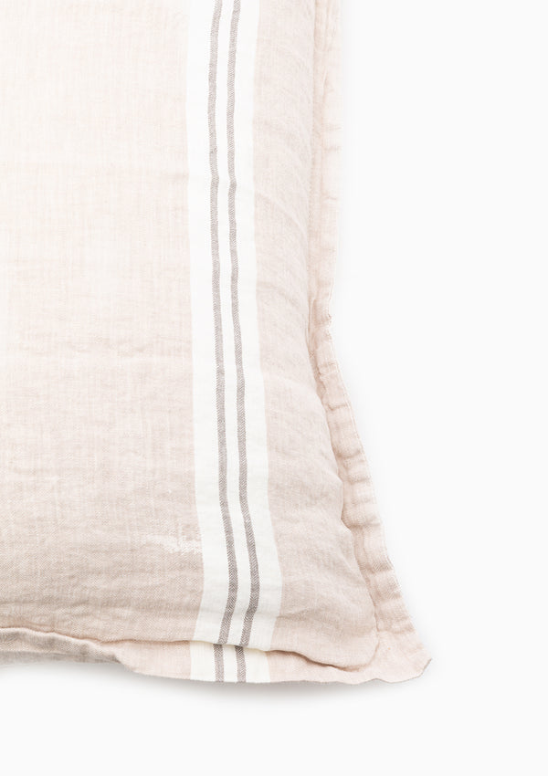 "Pure Linen Striped Sham 50"" x 70"""