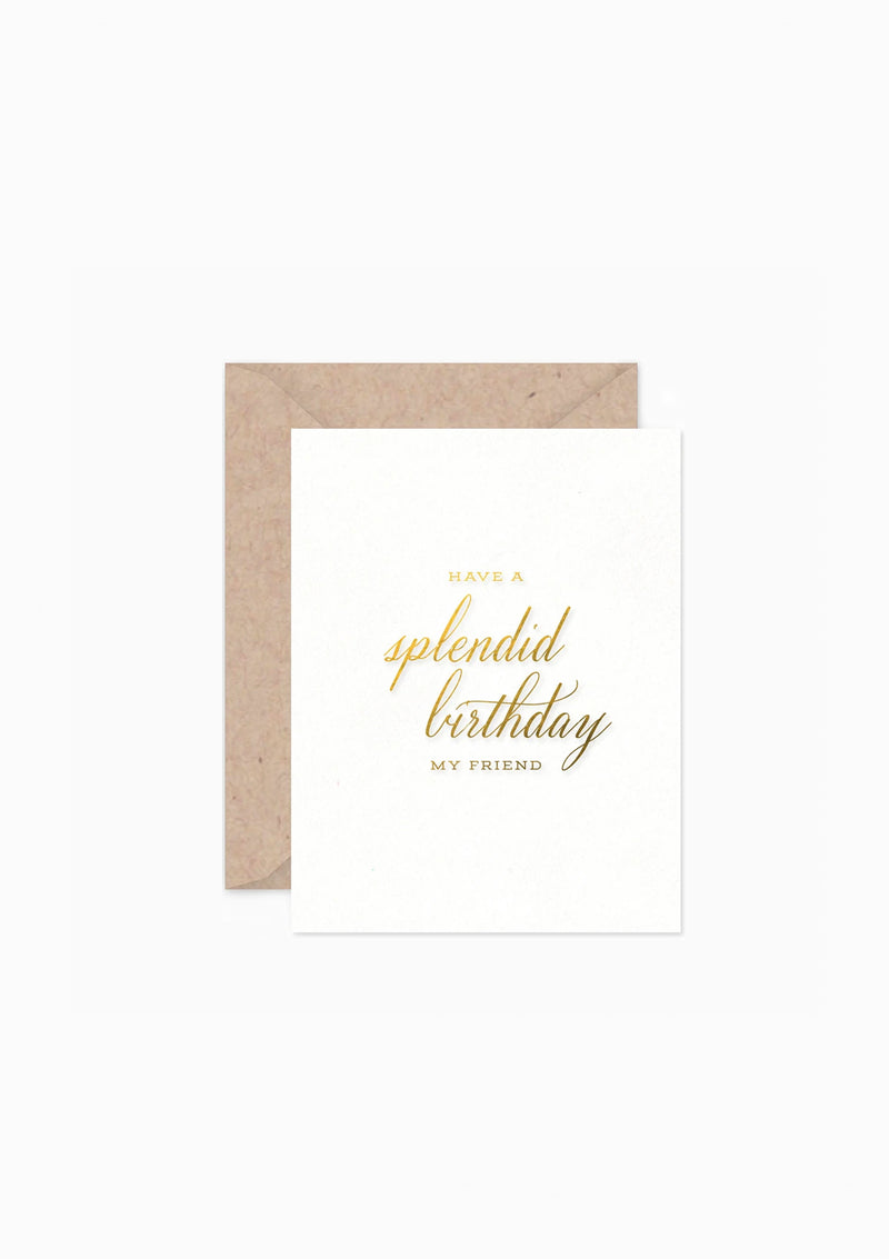 Splendid Birthday Greeting Card