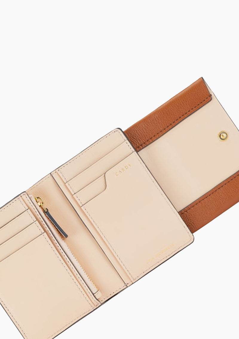 Rose Bow Trifold Compact Wallet
