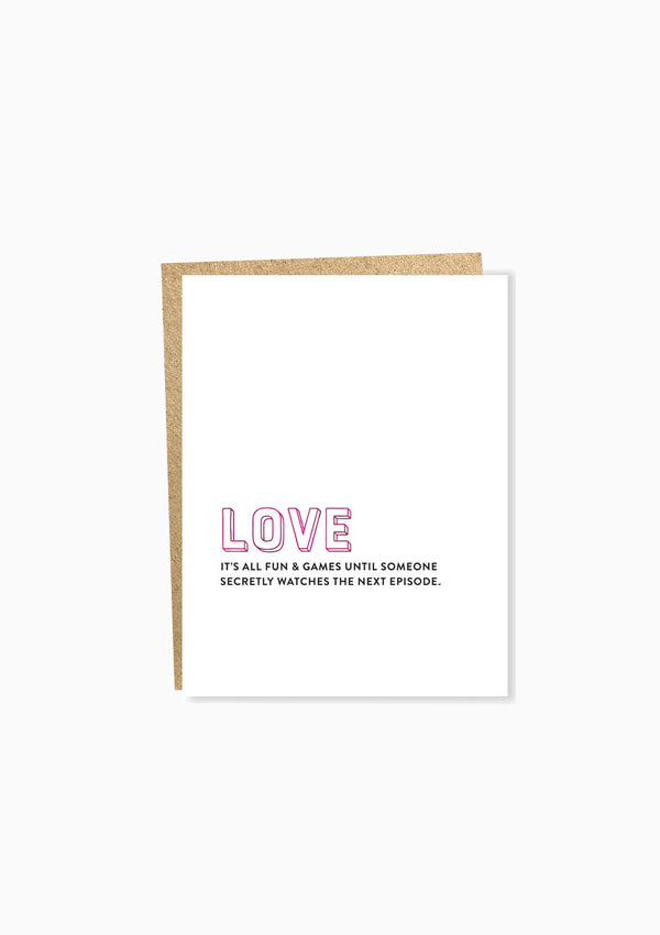 Love: Next Episode Greeting Card