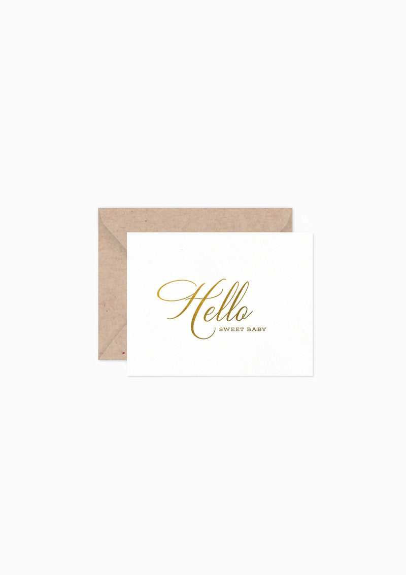 Greeting Card 2 Hello Baby