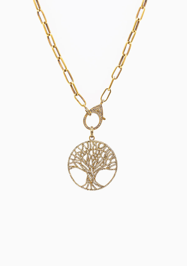 Pave Tree Pendant