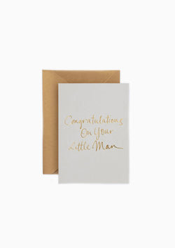 Little Man Greeting Card