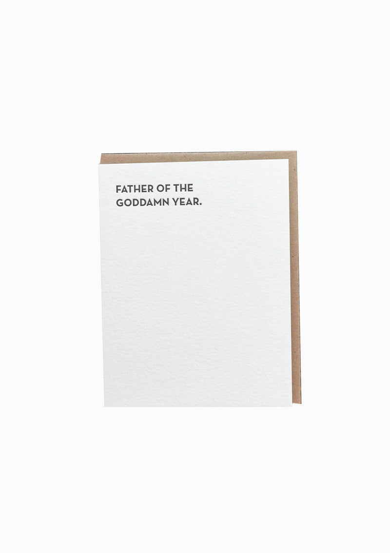 Moment Of Truth: Father Of The Year Greeting Card