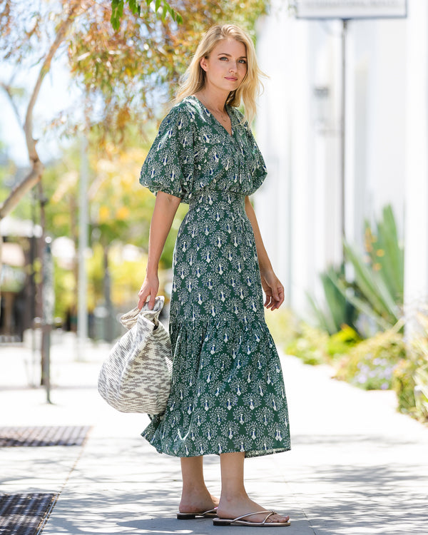 Bay Skirt | Green Peacock