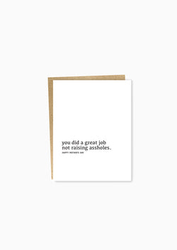 Well Wishes: Great Job/Mother's Day Greeting Card