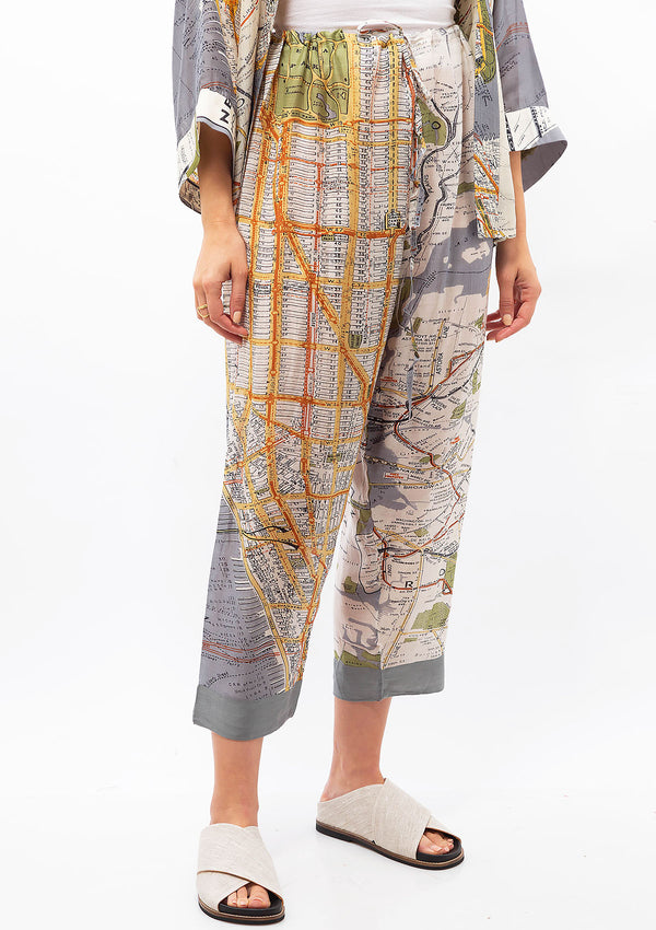 New York Map Pajama Pants