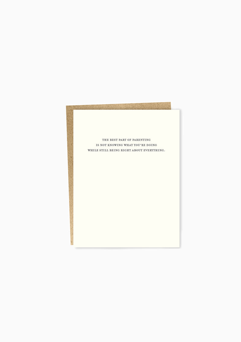 Mild Confessions: Parenting Greeting Card