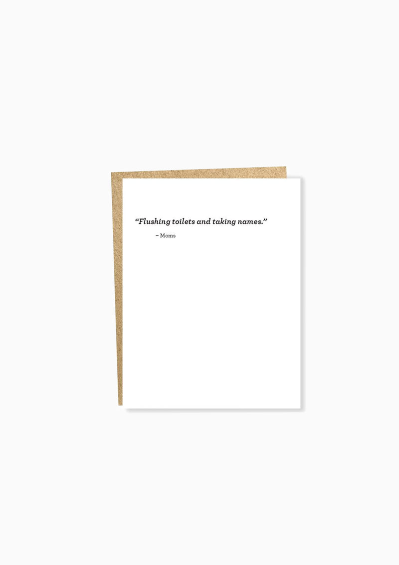 Almost Famous: Toilets Greeting Card