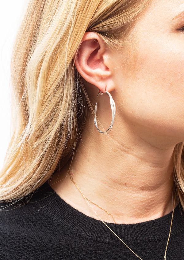 Fine Twist Hoop Earrings