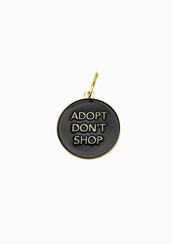 Adopt Don't Shop Dog Tag Black