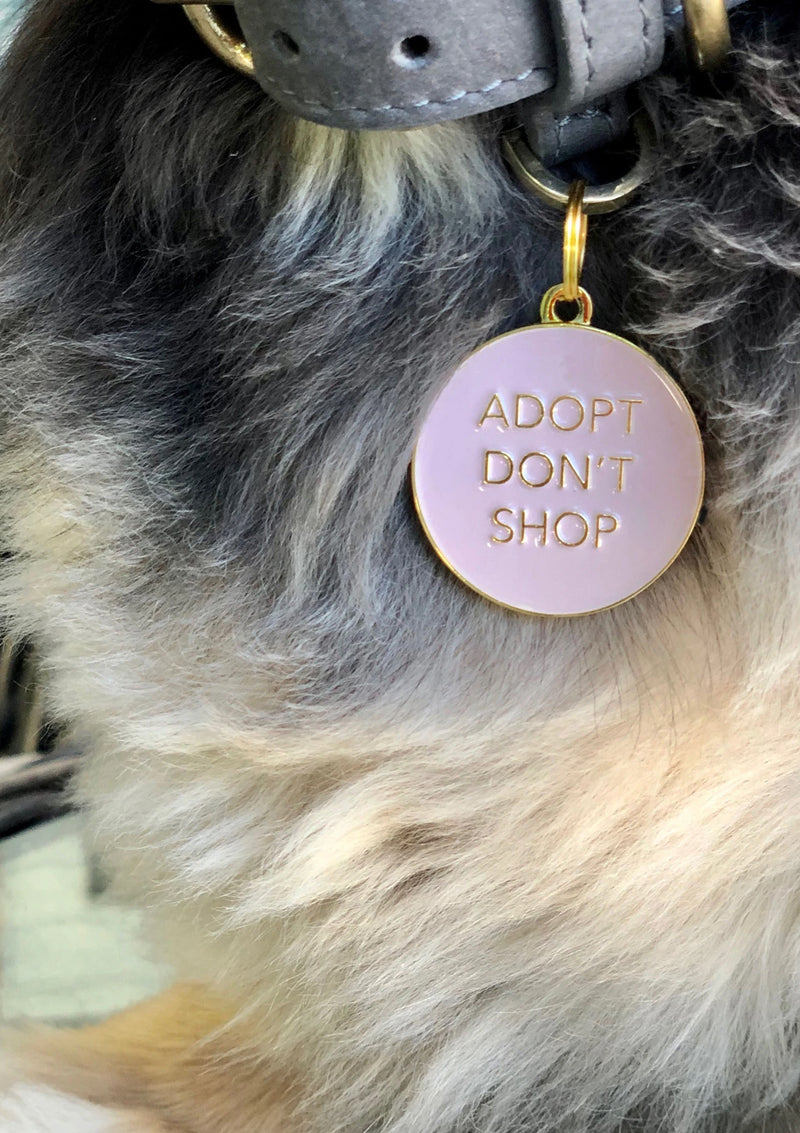 Adopt Don't Shop Dog Tag Pink