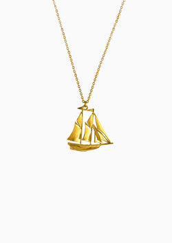 Big Sailing Ship Necklace