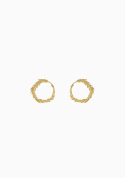 Plume Loop Stud Earrings
