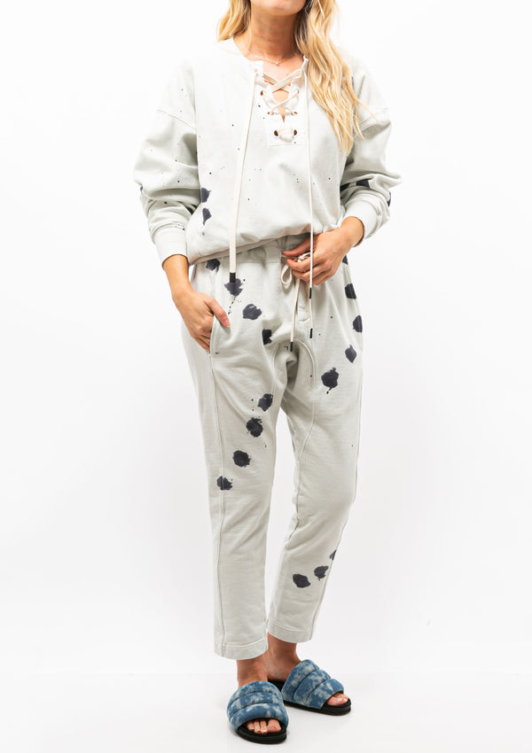 Splatter Fleece Relaxed Pant