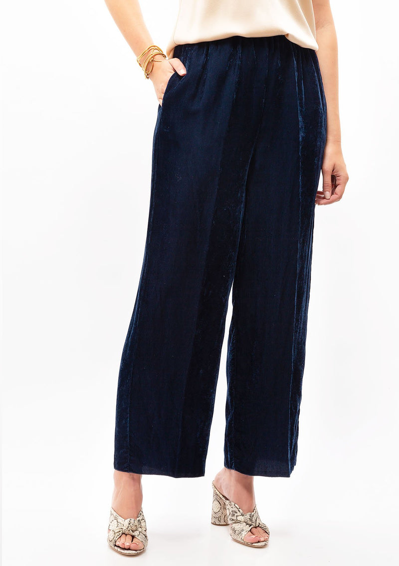 Fluid Ribbed Velvet Pants
