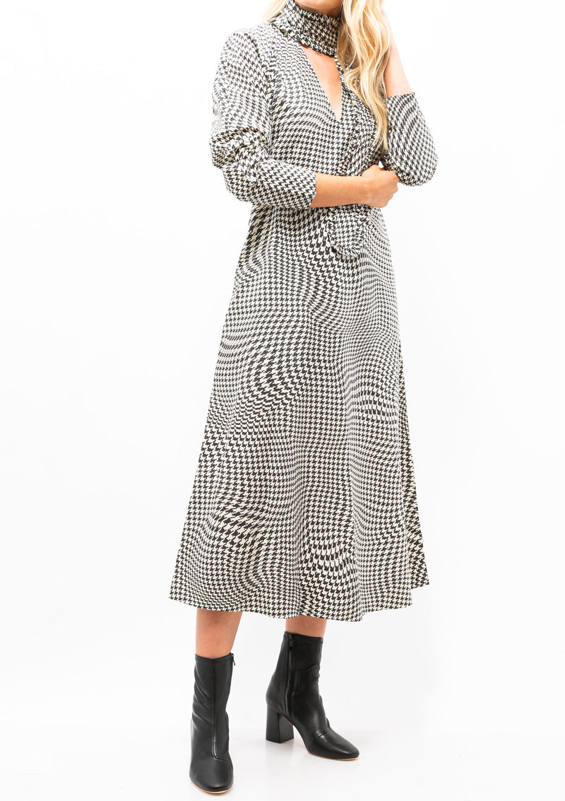 Printed Cotton Poplin Midi Dress