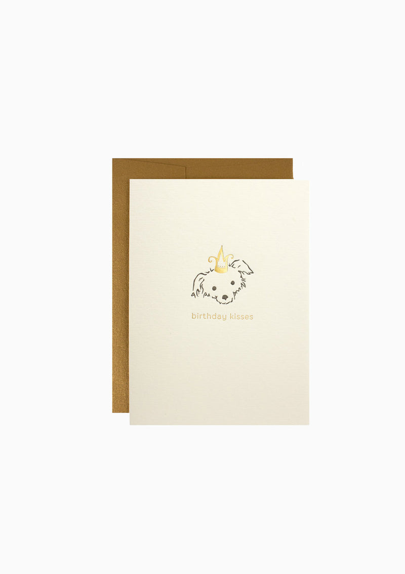 Greeting Card, Adorable Dog/Birthday Kisses