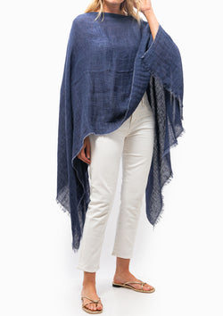 Light Poncho | Navy