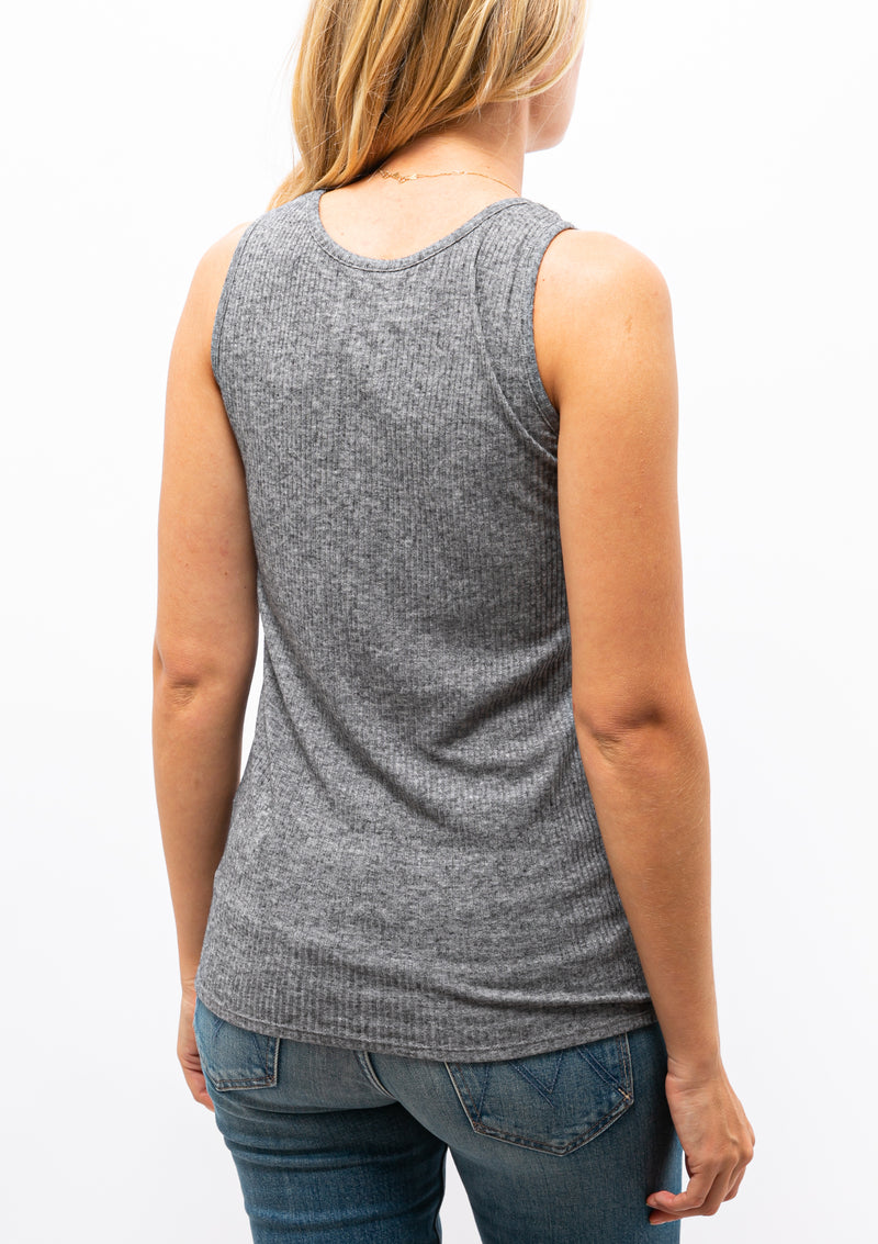 Alicudi Tank Top | Grey Melange