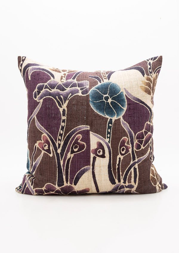 Purple Floral Pillow