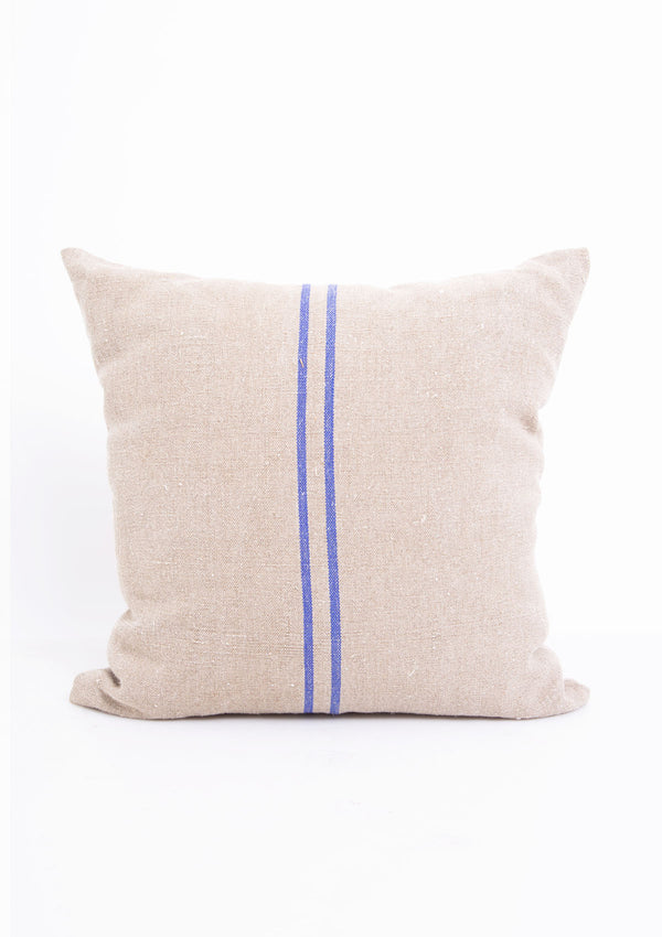 "HFS Vintage Linen Blue 2 Stripe Pillow, 18.5"" x 18.5"""