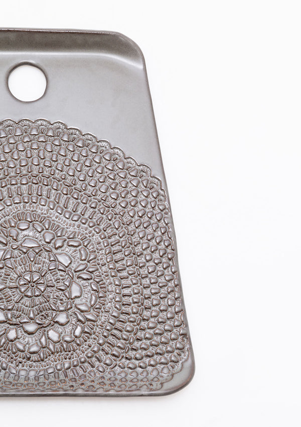Lace Cheeseboard | Gunmetal